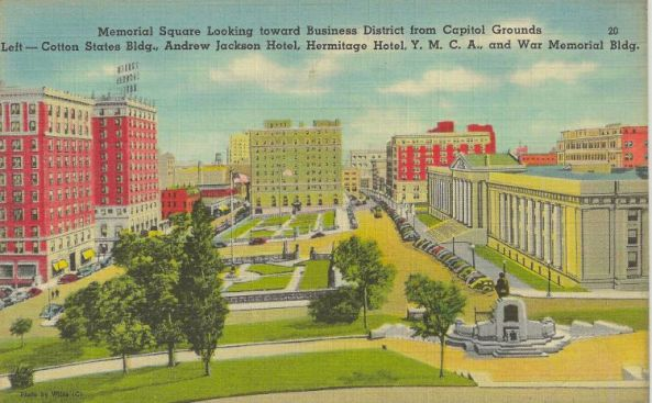 A 1930s view from the State Capitol.  SBCS Walking Tour will cover this area.