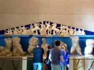 Admiring a maquette of the Parthenon Frieze, Nashville, TN