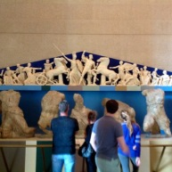 Admiring a maquette of the Parthenon Frieze, Nashville, TN