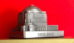 SBCS 2015 Commemorative, Orlando City Hall, pewter, Height 2 1/4