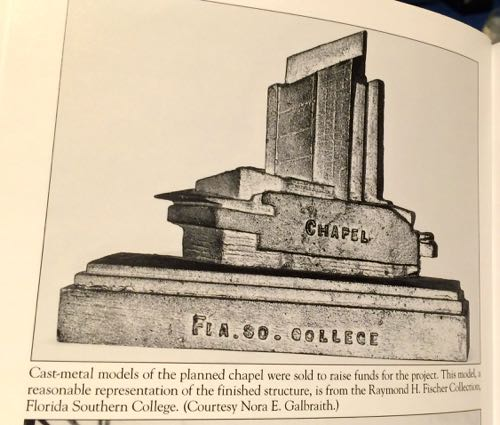 Cast Metal Model of the Annie Pfeiffer Chapel