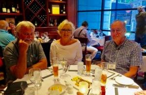 Banquet. Brad, Beth, David.
