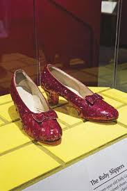 Photo of Dorothy's Red Slippers on display in the Smithsonian. Photo is courtesy of Smithsonian Magazine.